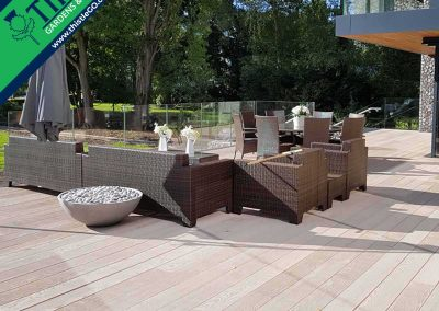 Enhanced Grain Composite Decking in Smoked Oak
