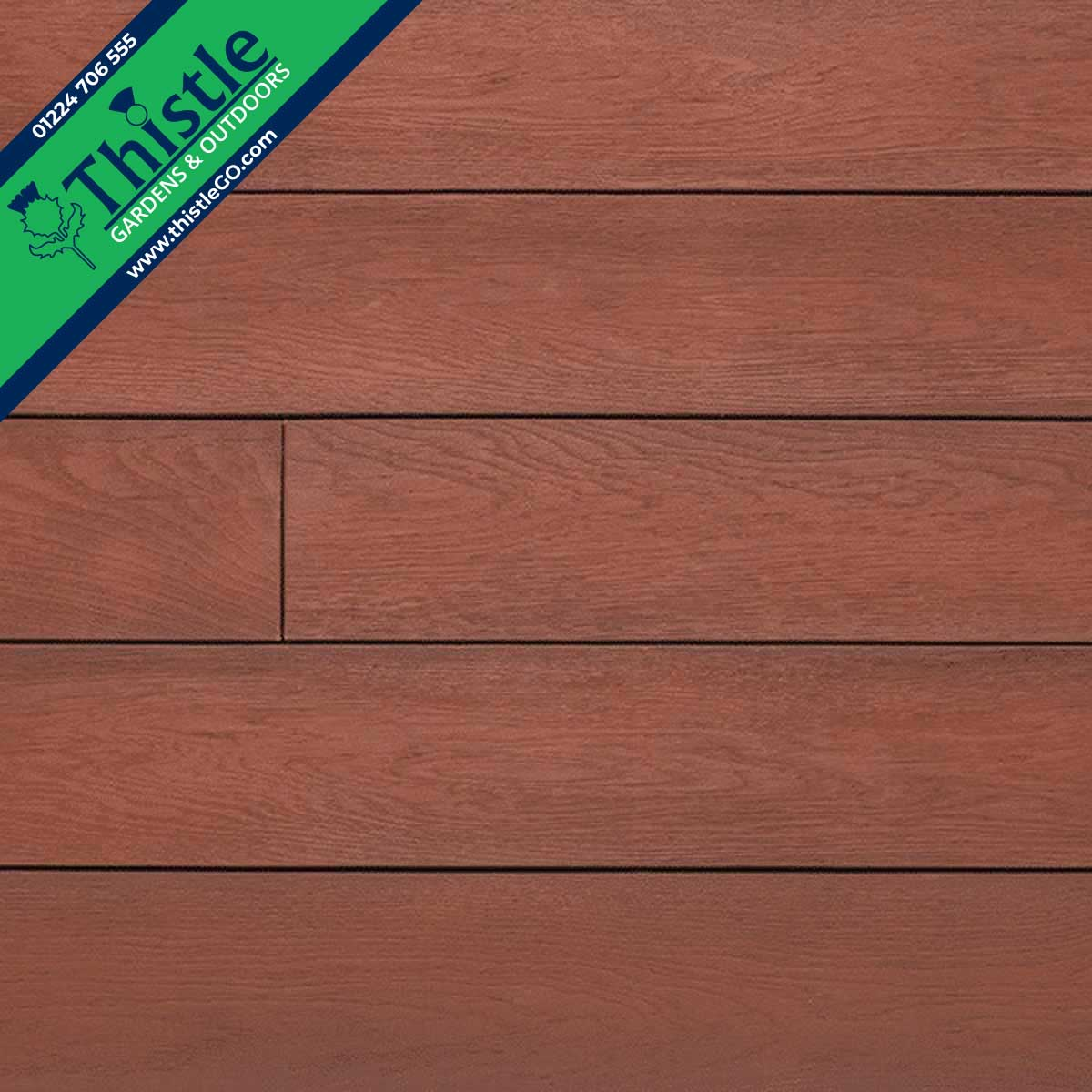 Enhanced Grain Composite Decking in 'Jarrah'