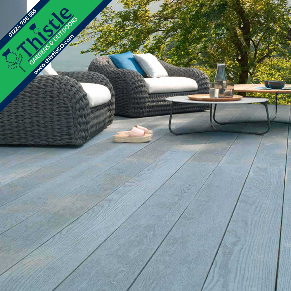 Enhanced Grain Composite Decking in Brushed Basalt