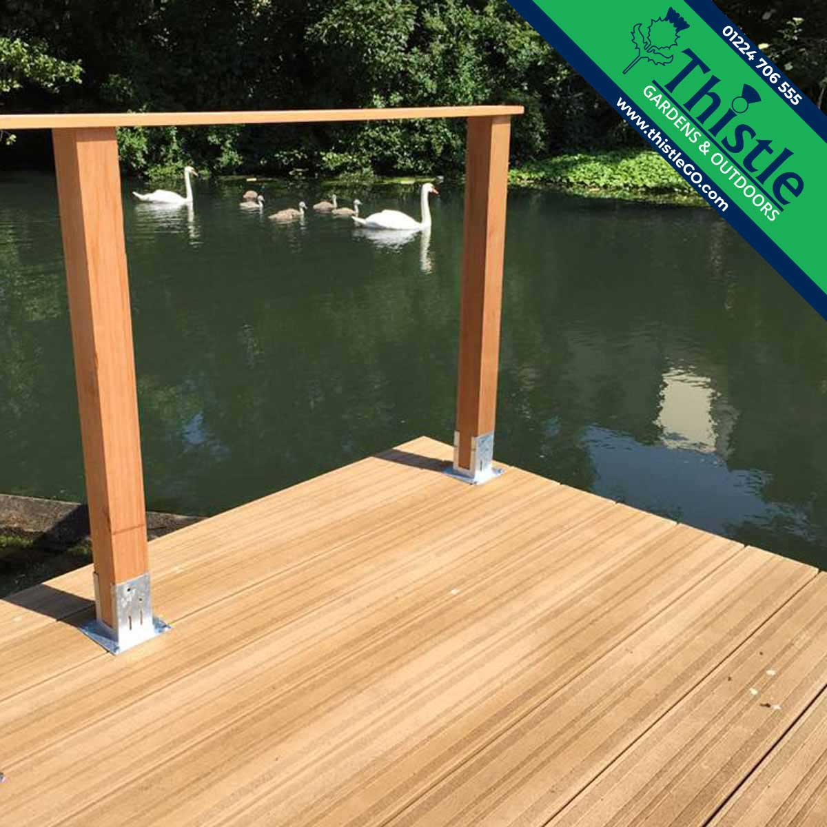 Enhanced Grip Composite Decking in Golden Oak