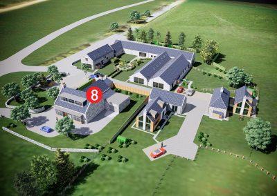 Cranfield by Thistle Homes, Plot 8: 6-Bedroom Farmhouse Conversion