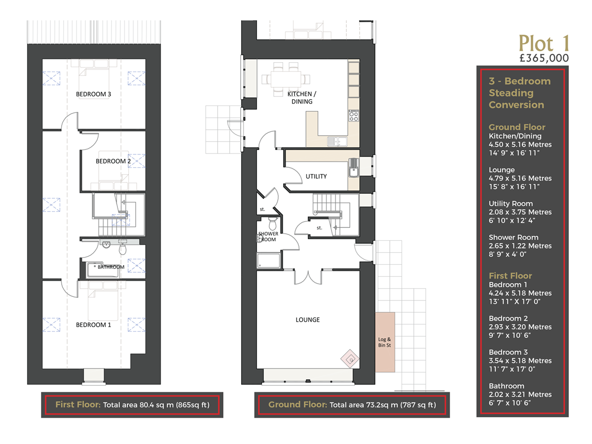 Cranfield by Thistle Homes: Plot 1 Floor Plan