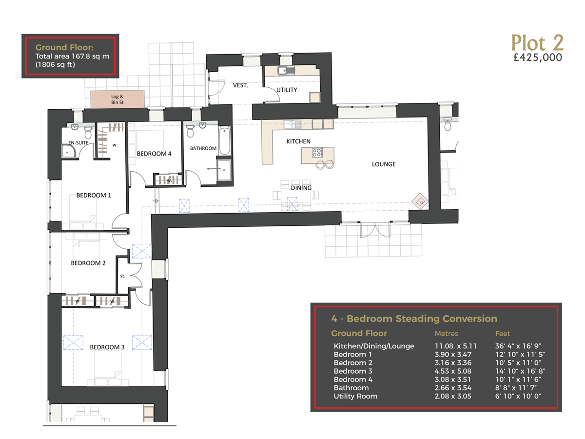 Cranfield by Thistle Homes: Plot 2 Floor Plan