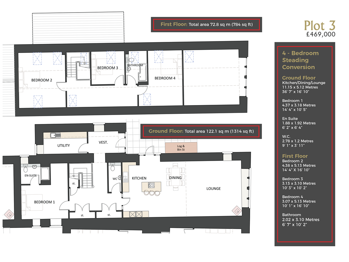 Cranfield by Thistle Homes: Plot 3 Floor Plan